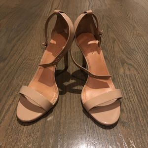Like New J. Crew neutral heels with ankle strap